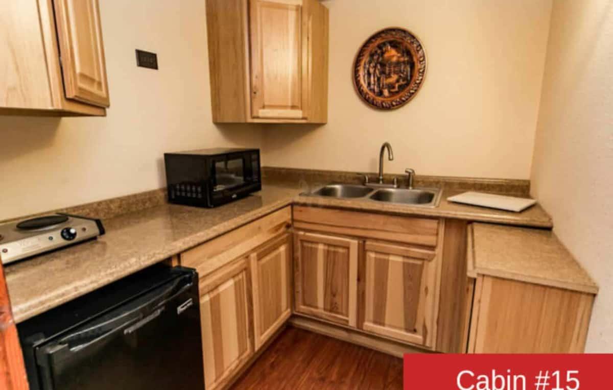 Cabin 15 kitchen