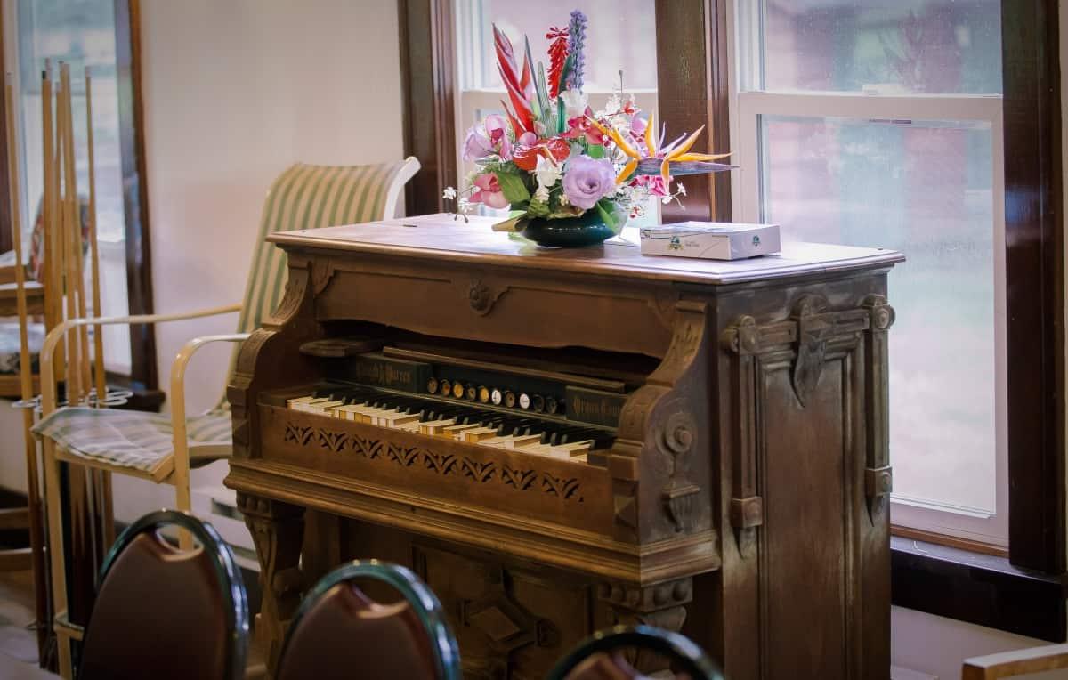 Group Lodge - antique organ musical instrument