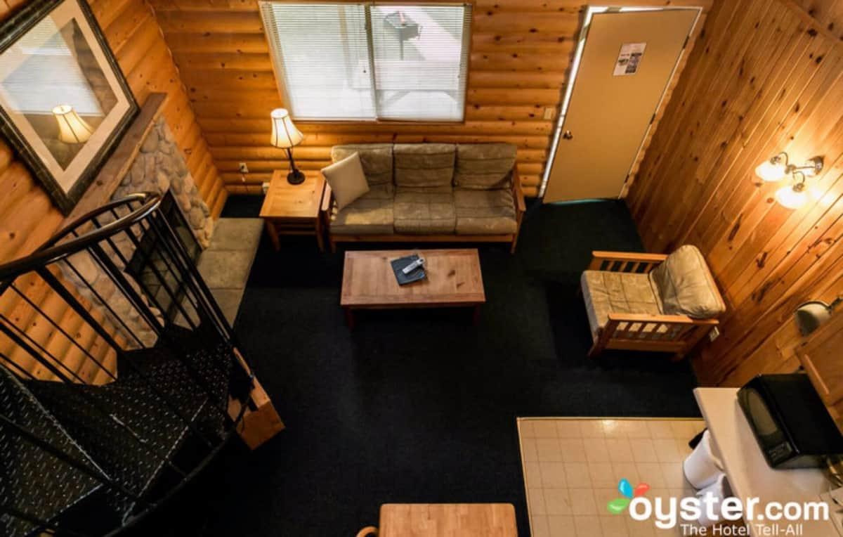 Loft Style Duplex Cabin (looking down from loft)