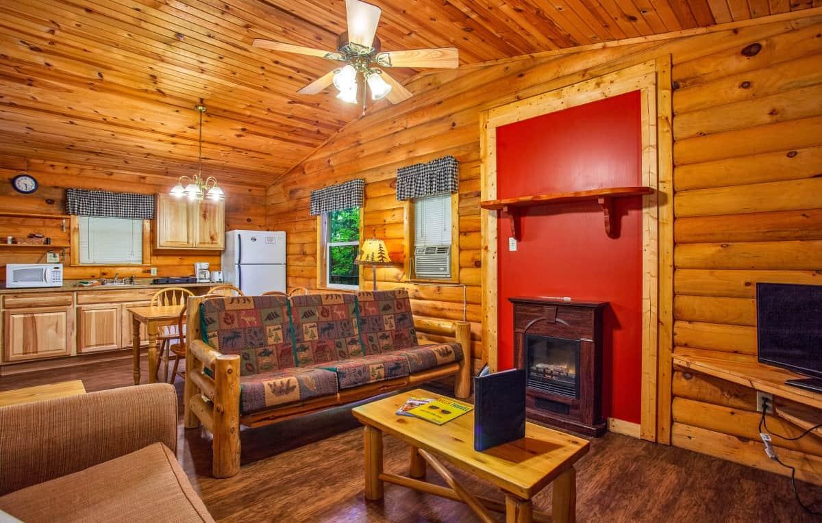 Private Cabin #2 - living room